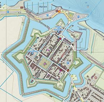 Willemstad plattegrond