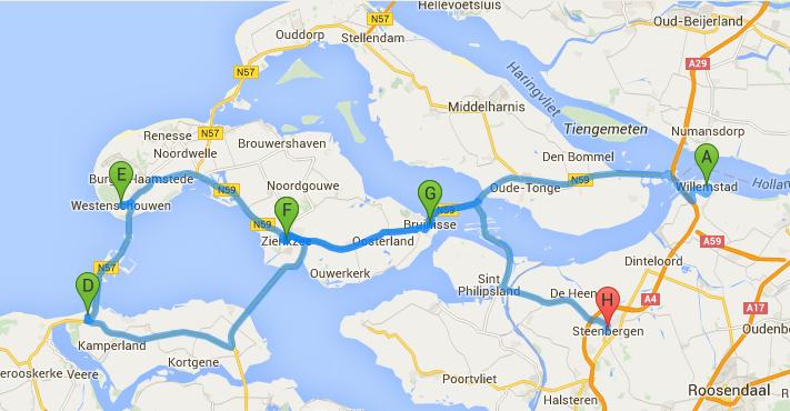 route door zeeland